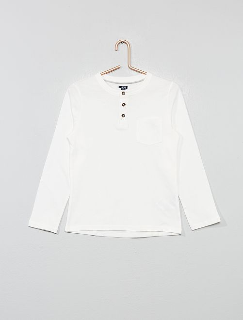 Camiseta con cuello panadero                                                     blanco nieve