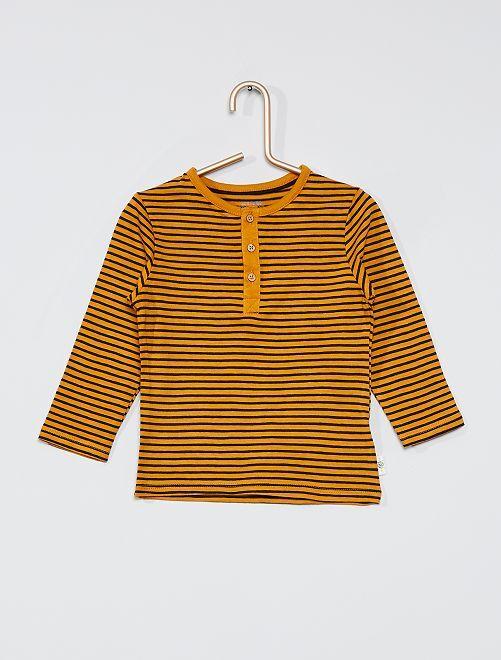 Camiseta con cuello panadero eco-concepción                                                                             ROJO