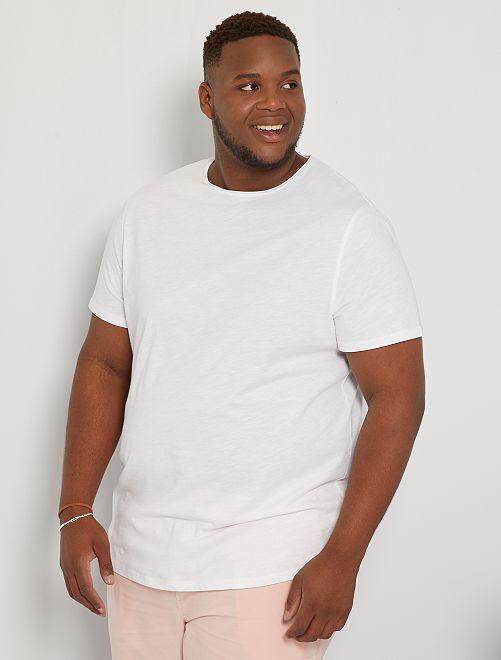 Camiseta con cuello redondo                                                                 blanco