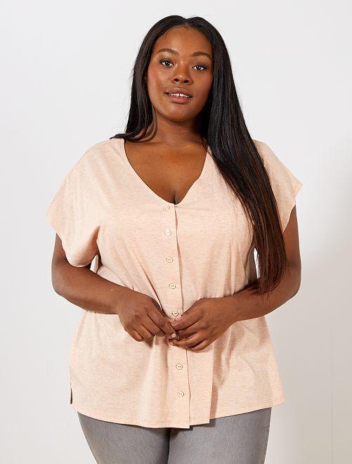 Camiseta con cuello reversible                                                                 ROSA