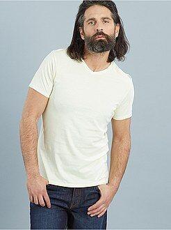 Hombre Camiseta con cuello V
