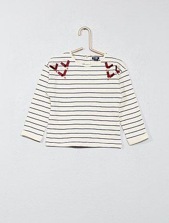 Camiseta con detalle bordado - Kiabi