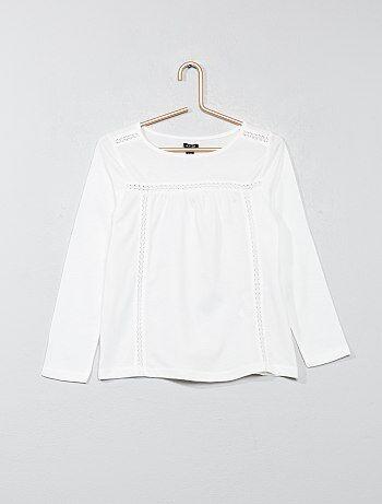 Camiseta con detalle de encaje - Kiabi