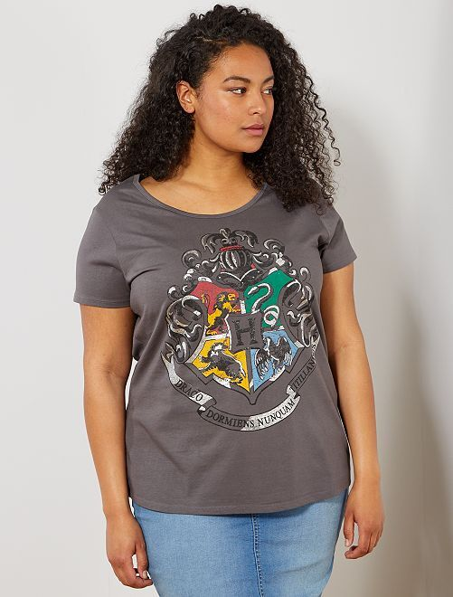 Camiseta con detalle de 'Harry Potter'                             gris