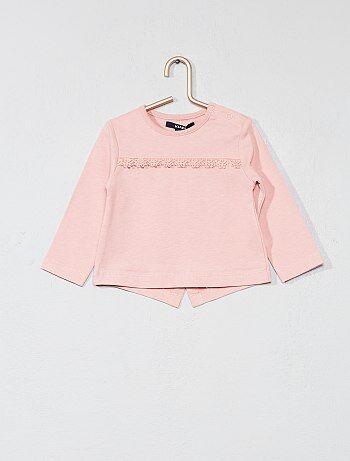 Camiseta con detalles bordados - Kiabi