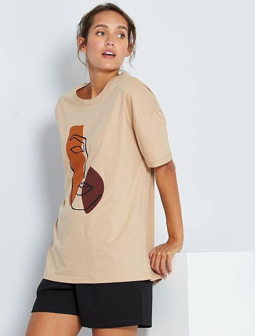 Camiseta con dibujo                                 BLANCO