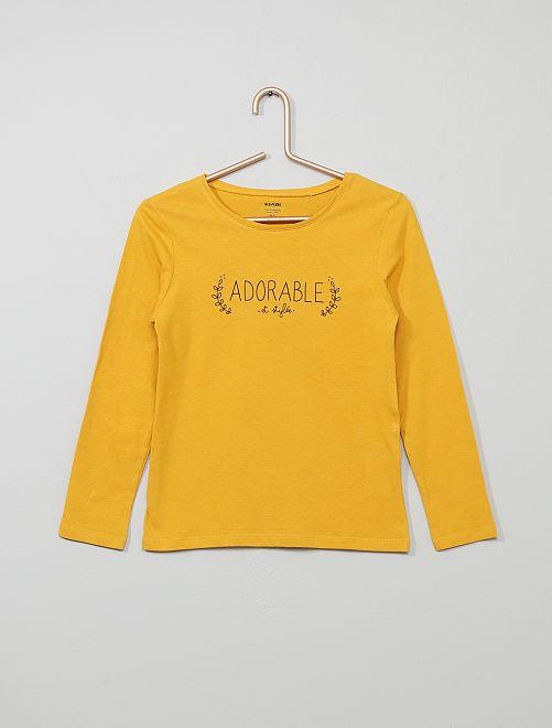 Camiseta con estampado 'adorable' 'Eco-concepción'                                                                                                                                                                                         AMARILLO