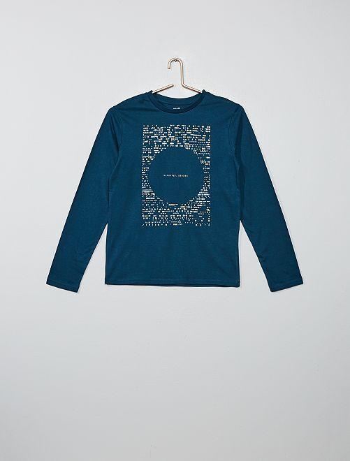 Camiseta con estampado                                                                                                     AZUL Joven niño