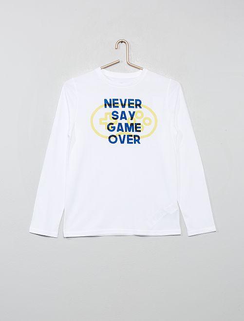 Camiseta con estampado                                                                                                                                         BLANCO