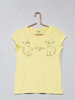 Niña 3-12 años - Camiseta con estampado de fantasía - Kiabi