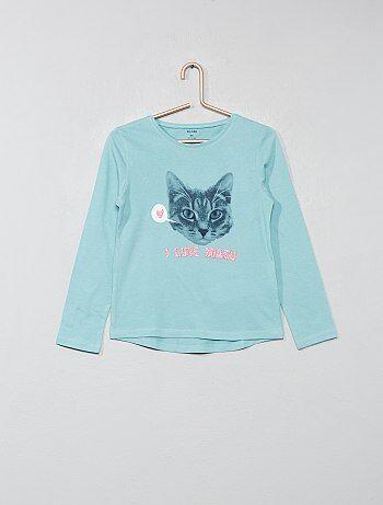 382055900 Camiseta con estampado de fantasía - Kiabi