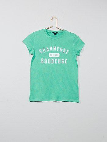 31a6c09ec76 Niña 10-18 años - Camiseta con estampado de fantasía - Kiabi