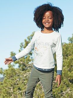 Niña 3-12 años Camiseta con estampado de naturaleza