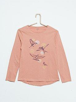 Camiseta con estampado de 'pájaros'