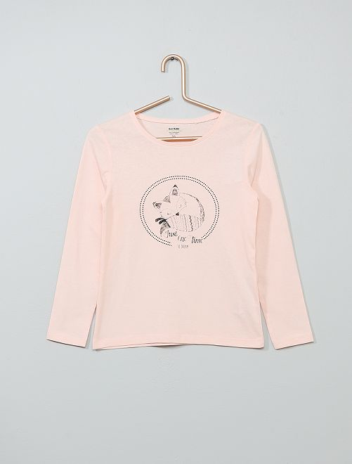 Camiseta con estampado de 'zorro' 'Eco-concepción'                                                                                                                                                                                         ROSA