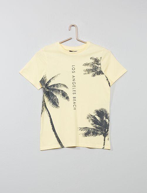 Camiseta con estampado exótico                                                                 AMARILLO Joven niño