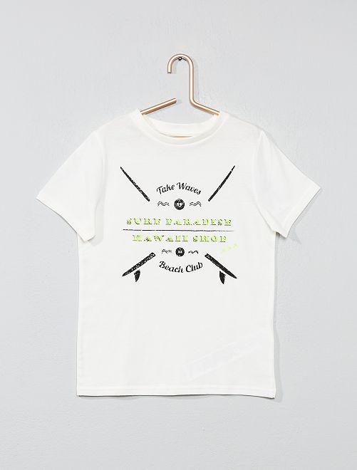 Camiseta con estampado fantasía                                                                                                                                                                                                     BEIGE Chico