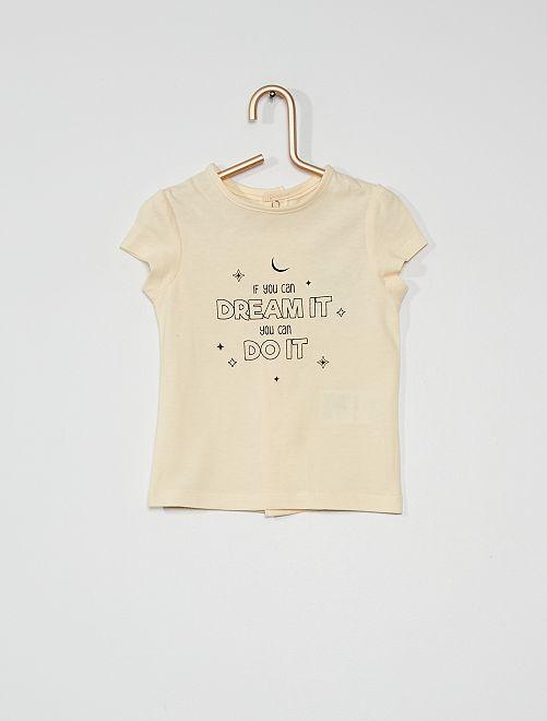 Camiseta con estampado fantasía                             BLANCO
