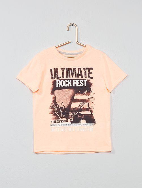 Camiseta con estampado fantasía                                                                                         NARANJA Chico