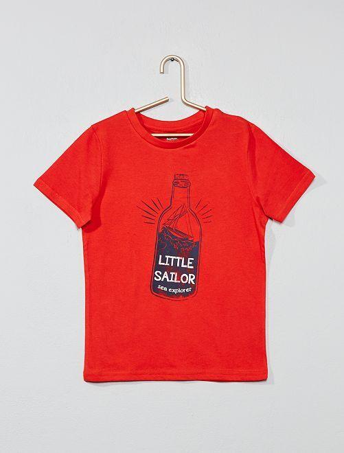 Camiseta con estampado fantasía                                                                                                                                                                 ROJO Chico