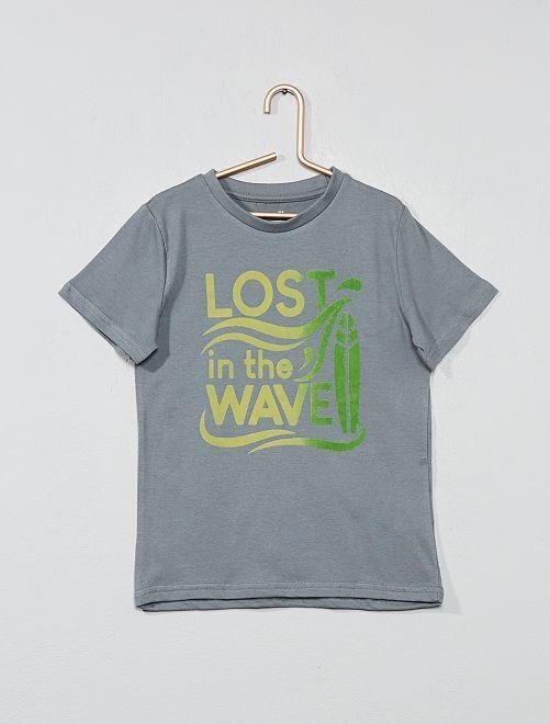 Camiseta con estampado fantasía                                                                                                                                                                 VERDE Chico