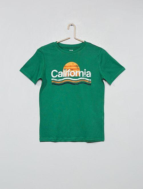 Camiseta con estampado fantasía                                                                                         VERDE Joven niño
