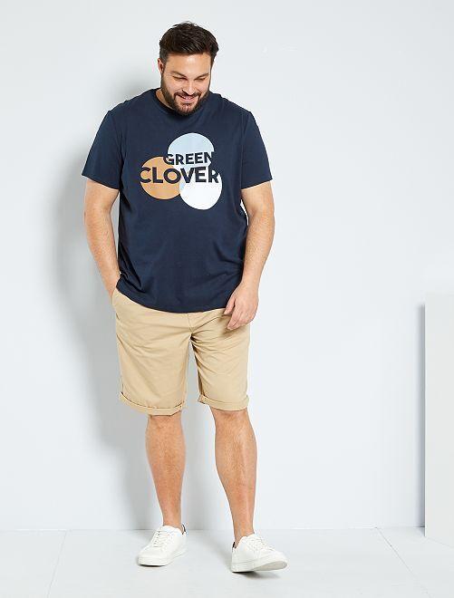 Camiseta con estampado gráfico 'eco-concepción'                             AZUL