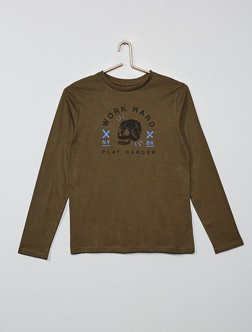 Camiseta con estampado                                                                                                                                                                             KAKI