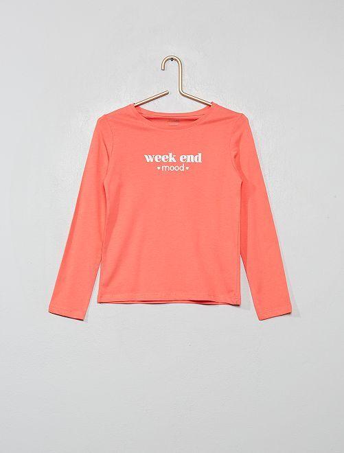 Camiseta con estampado plateado 'Eco-concepción'                                                                                                                 BEIGE