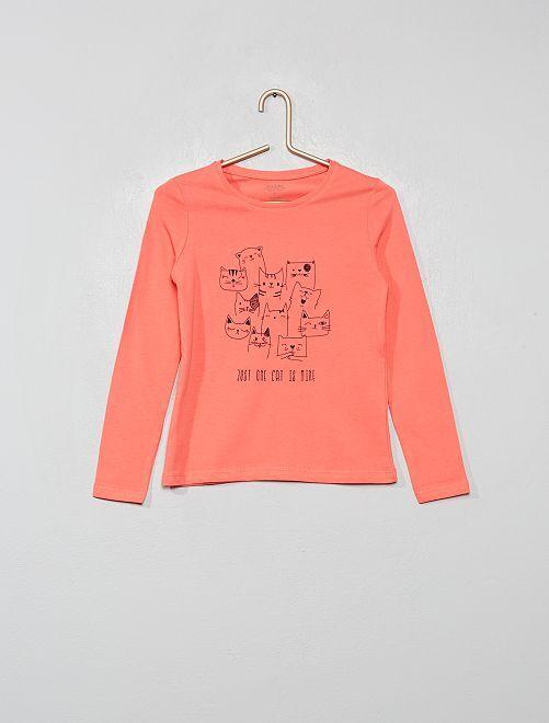 Camiseta con estampado plateado 'Eco-concepción'                                                                                                                                                                             ROSA