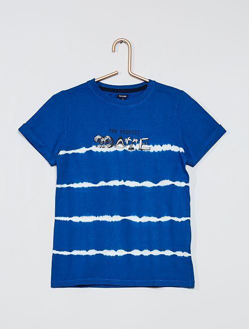 Camiseta con estampado tie-dye                             AZUL