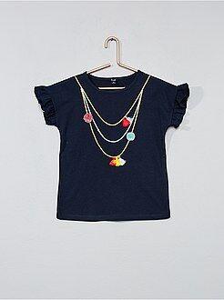 Niña 3-12 años - Camiseta con estampado trampantojo - Kiabi
