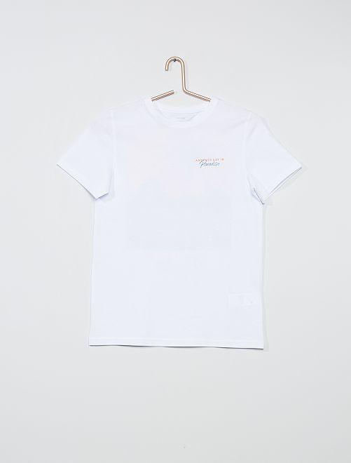 Camiseta con estampado trasero                                         blanco