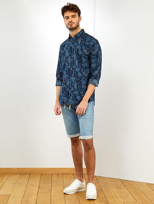 Camiseta con estampado tropical +1,90 m                                         AZUL