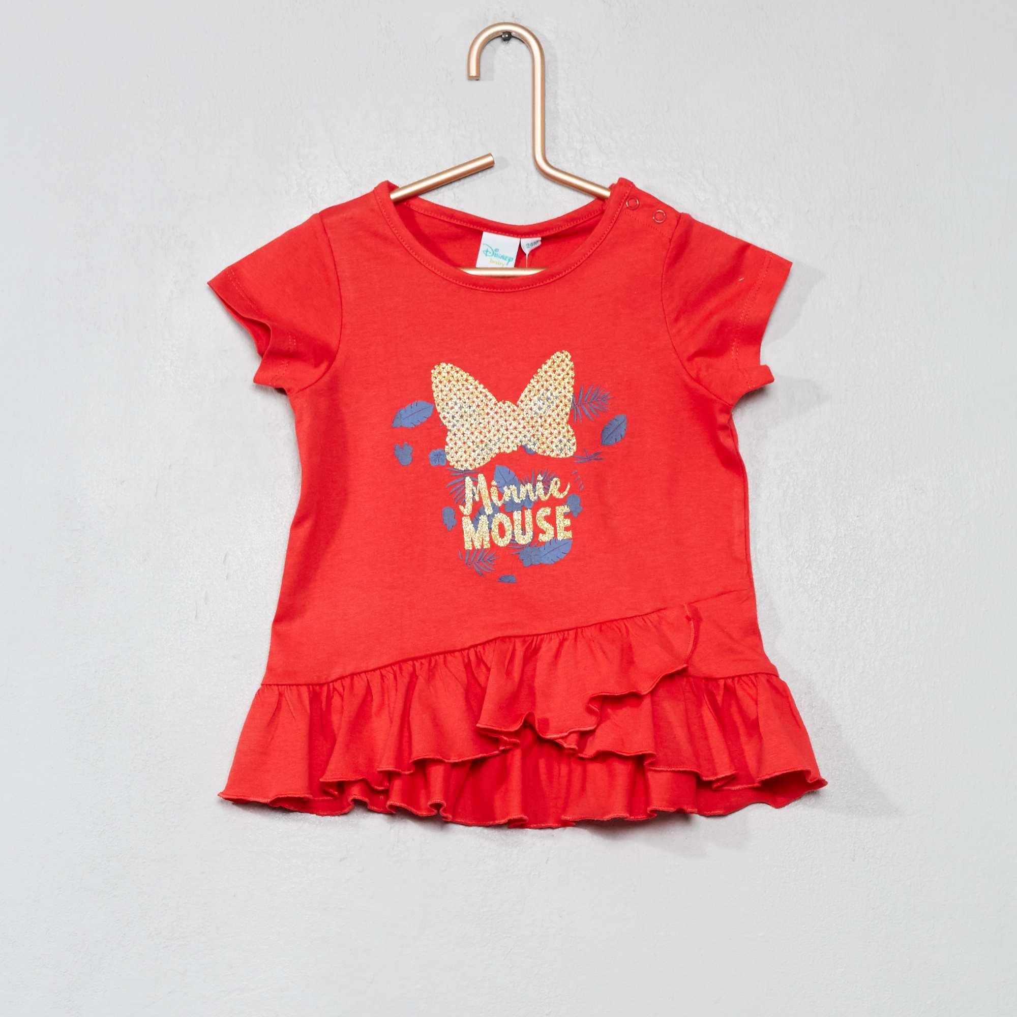 735b3c855 Camiseta con faldón  Minnie  Bebé niña - rojo - Kiabi - 8