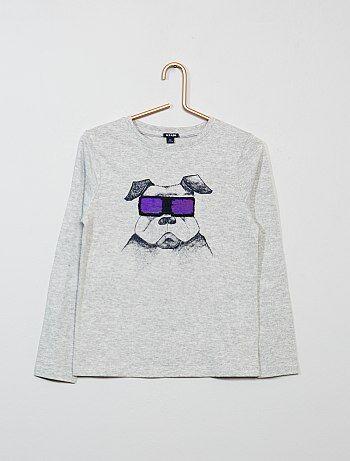 Camiseta con lentejuelas reversibles - Kiabi