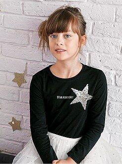 Camiseta con lentejuelas reversibles