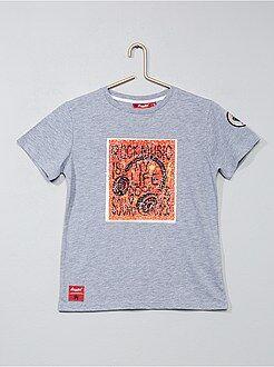 Niño 10-18 años - Camiseta con lentejuelas reversibles 'rock' - Kiabi