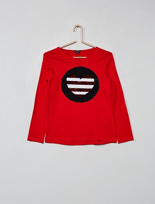 53a6be36d Camiseta con lentejuelas reversibles Chica - ROSA - Kiabi - 8