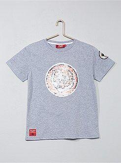 Niño 10-18 años - Camiseta con lentejuelas reversibles 'tigre' - Kiabi