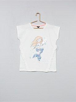 Niña 3-12 años - Camiseta con lentejuelas y volantes - Kiabi