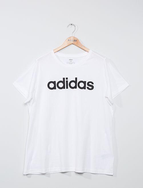 Camiseta con logo 'Adidas'                             BLANCO