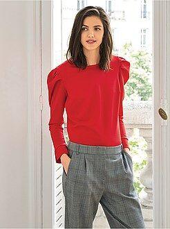 Mujer Camiseta con manga presunto