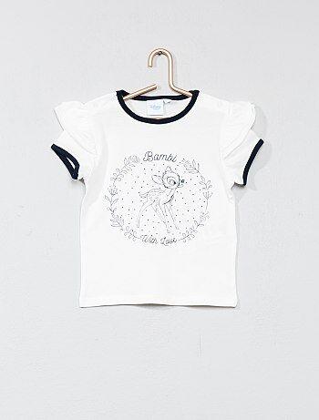 Camiseta con manga tipo volante 'Bambi' - Kiabi
