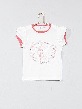 Niña 0-36 meses - Camiseta con manga tipo volante 'Campanilla' - Kiabi