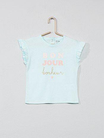 cba17a73a Niña 0-36 meses - Camiseta con mangas con volantes - Kiabi