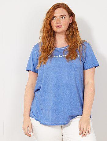 c7502b8914 Tallas grandes mujer - Camiseta con mensaje - Kiabi