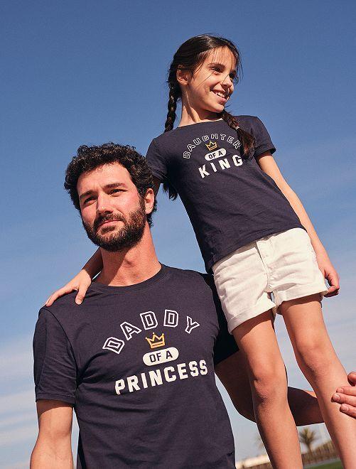 Camiseta 'Player Two' eco-concepción                     AZUL