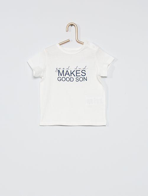Camiseta con mensaje 'eco-concepción'                             BLANCO