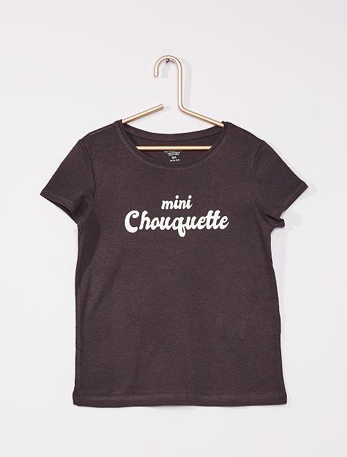 Camiseta con mensaje 'eco-concepción'                                                                 NEGRO
